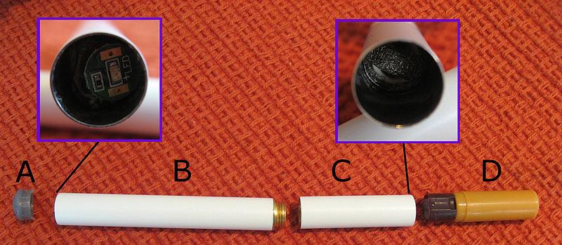 Eléments d'une cigarette électronique