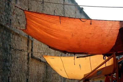 Sheets hanging in Dubrovnik Croatia