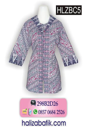 model batik kerja wanita, baju batik untuk kerja, busana muslim murah