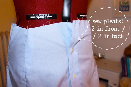 camisa transformada em saia