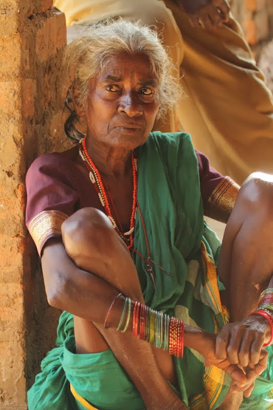 Elderly Gowli Tribe Woman near Dandeli, Karnataka