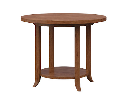 Round Strafford End Table in Itasca Maple