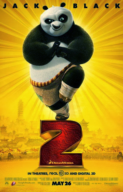 Poster Of Kung Fu Panda 2 (2011) Full Movie Hindi Dubbed Free Download Watch Online At Alldownloads4u.Com