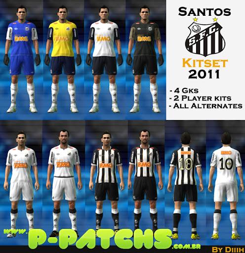 Santos 11-12 Kitset para PES 2011 PES 2011 download P-Patchs