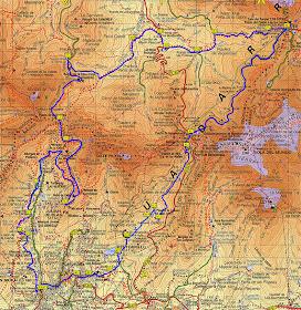 Ruta de los Tres Valles - Pincha en el plano para verlo ampliado