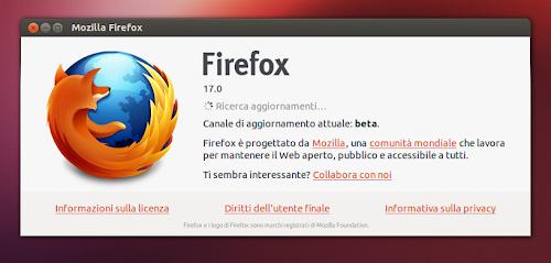Firefox 17 Beta