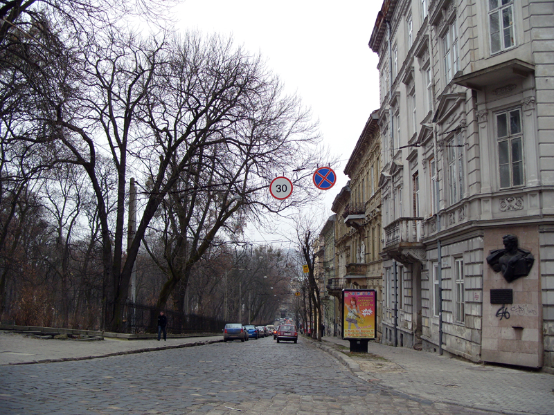 Львов. Улица Соломии Крушельницкой
