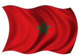 Marrocos - bandeira para colorir