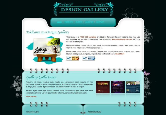 Free Artist Website Templates. free website templates with art ...