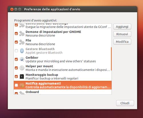 Ubuntu 12.10 applicazioni d'avvio