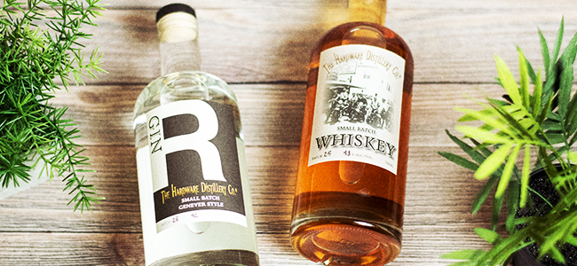 Hardware Distillery's R Gin And Whiskey