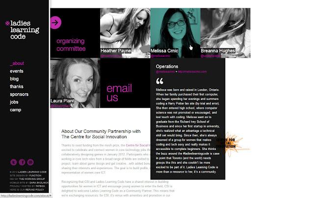 *用色簡單帶出精緻感的 Ladies  Ladies Learning Code Web Site 3