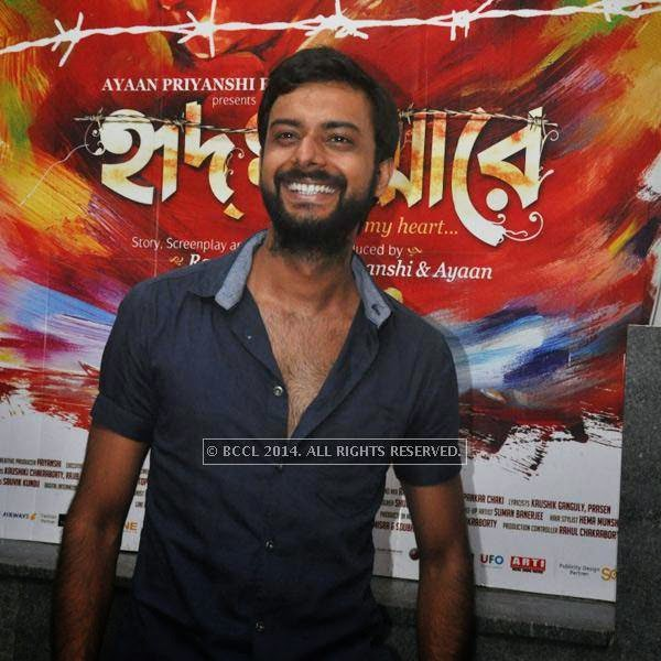 Indrasish Roy during premiere of Bengali movie Sada Canvas held in Kolkata.