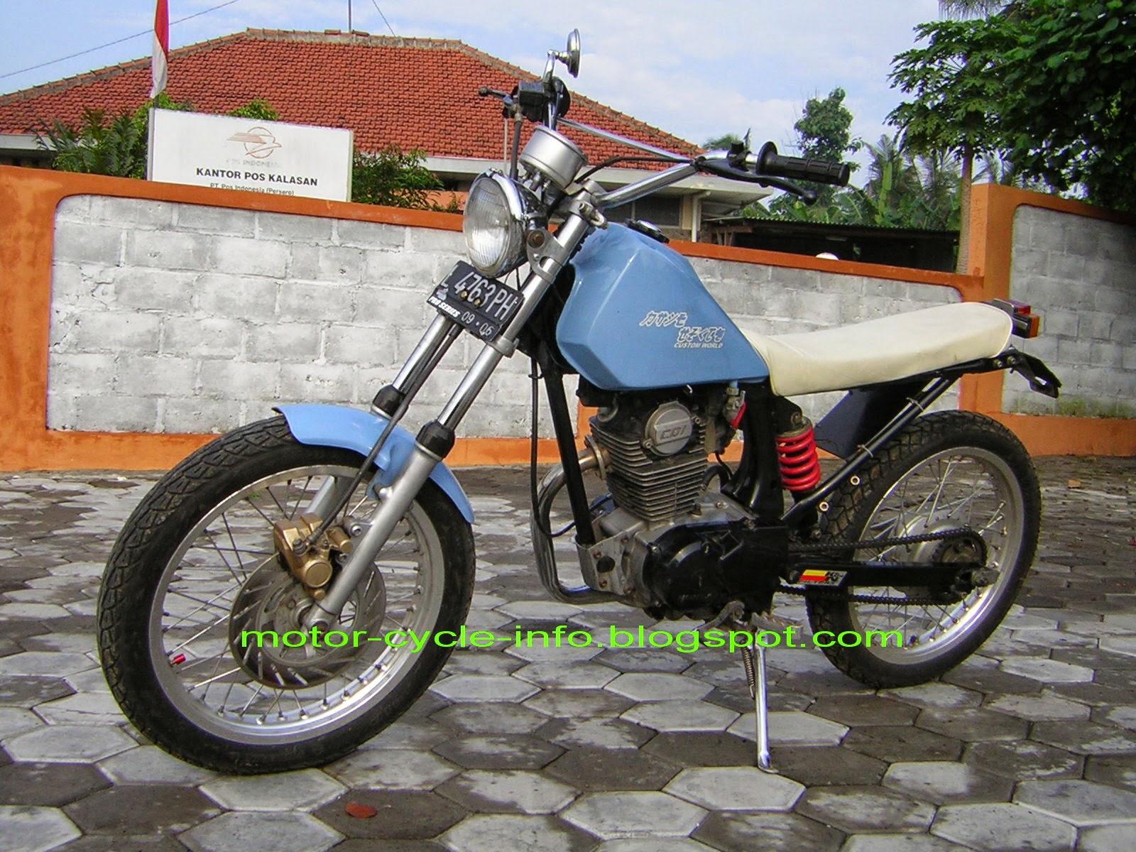 Modifikasi Honda Gl Pro Jadi Harley Combo Modifikasi