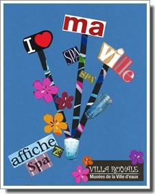 Bruselas Valonia: Cartel promocional de la ciudad de Spa (Bélgica)