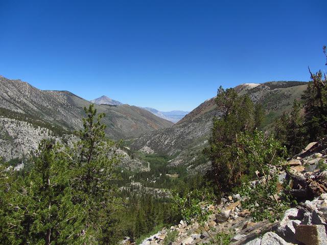 sharp valley below