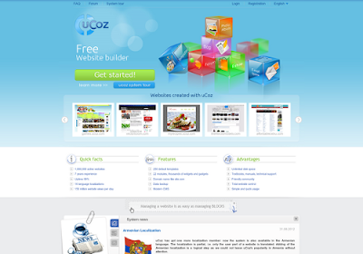 Ucoz.com free online website builders