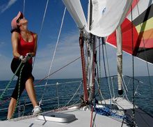 J/30 spinnaker sailing