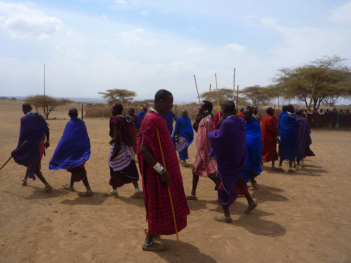 Maasai tribal warriors
