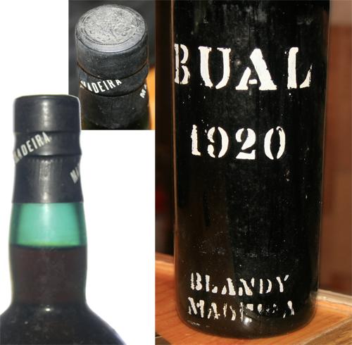 1920 Blandy Bual Madeira