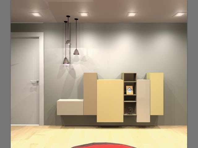 mueble para recibidor combinado por modulos