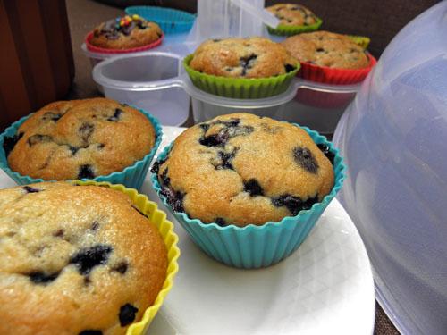 Waniliowe muffinki z jagodami