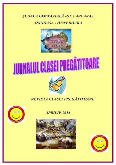 ed4_primar_jurnalul clasei pregÄtitoare_ŞCOALA GIMNAZIALĂ_Sf. Varvara_aninoasa_HUNEDOARA