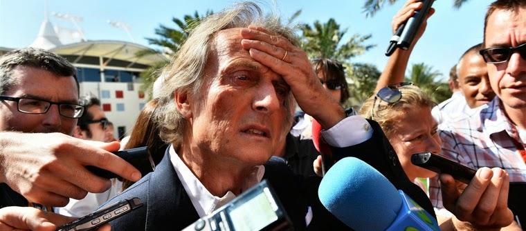 Luca Di Montezemolo expone sus quejas ante los medios en el paddock de Baréin