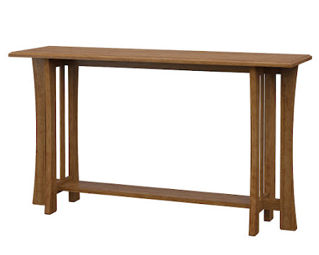 Craftsman Sofa Table in Como Maple