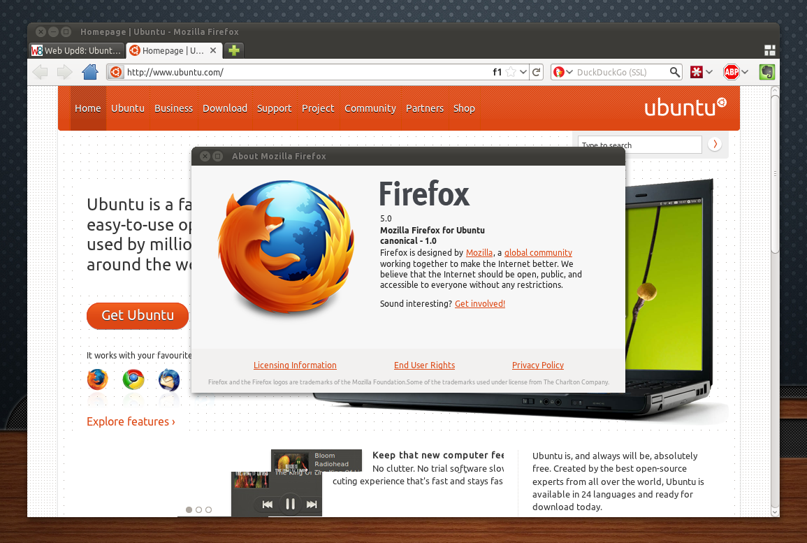 Update: Firefox 5 Is Now Available In The Official Ubuntu 1104 Security  Repository So You No Longer Have To Follow The Instructions Below To  Upgrade To