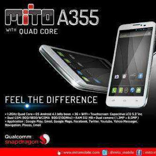 Spesifikasi Dan Harga Mito A355 Quad Core