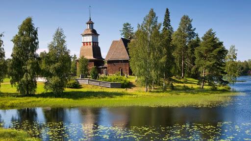 Old Wooden Church, Petajavesi, Near Jyvaskyla, The Lakeland, Finland.jpg