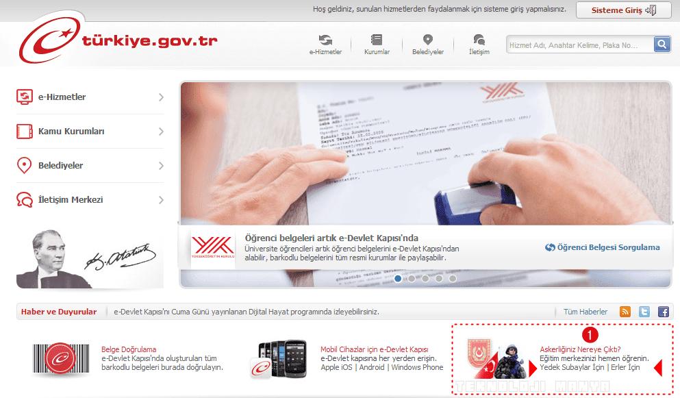 e-devlet askerlik sorgulama sülüs alma