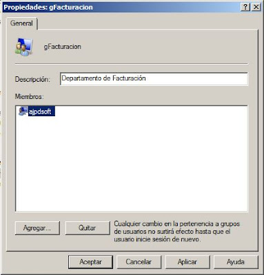 Crear un grupo de seguridad y agregar usuarios en Windows Server 2008