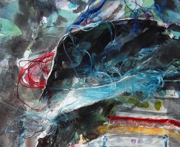 Teresa Jorda Vito,Pintora,Pinturas,Pintura de Teresa Jorda Vito,Por las ramas acuarela de Teresa Jorda Vito