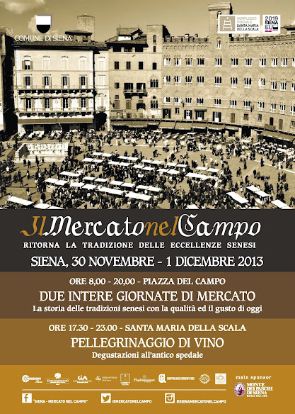 Program of the 2013 Christmas market in Piazza del Campo, Siena