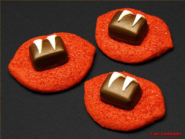 Vampire Bite Cookies