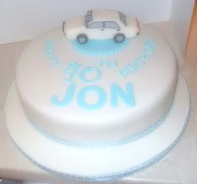 Car 40th Birthday Cake