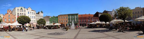 Panorama kościerskiego rynku