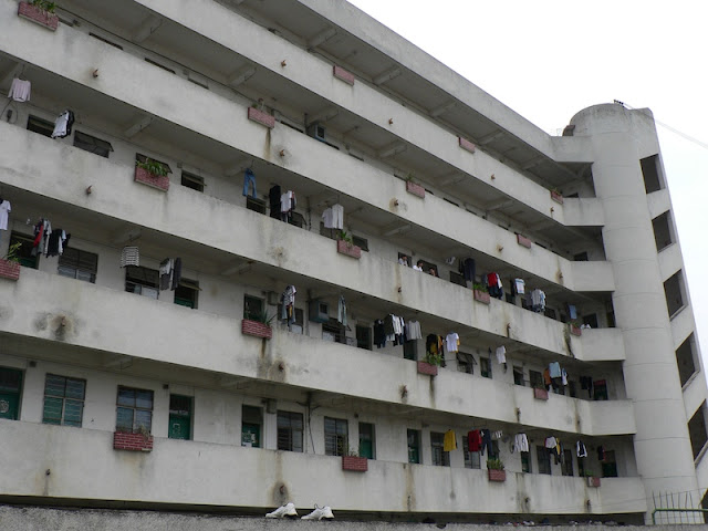 dormitory at the Guangxi Normal University for Nationalities in Longzhou, China
