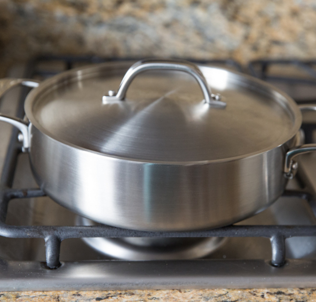 photo of the pan on the stove