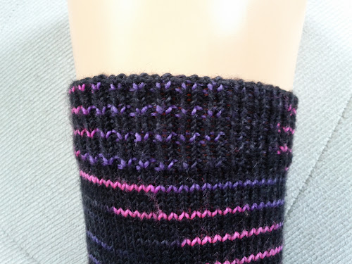 sock cuff with tubular bind-off