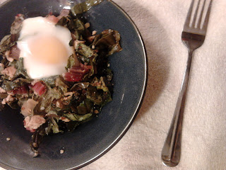 Vegetarian Bacon and Egg Baked Chard 1
