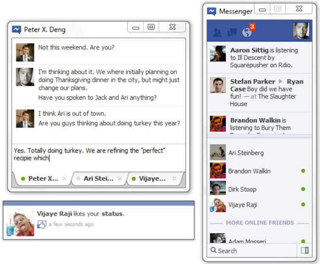 Screenshot of Facebook Messenger v.2.1 Chat Client PC Software Free Download at alldownloads4u.com