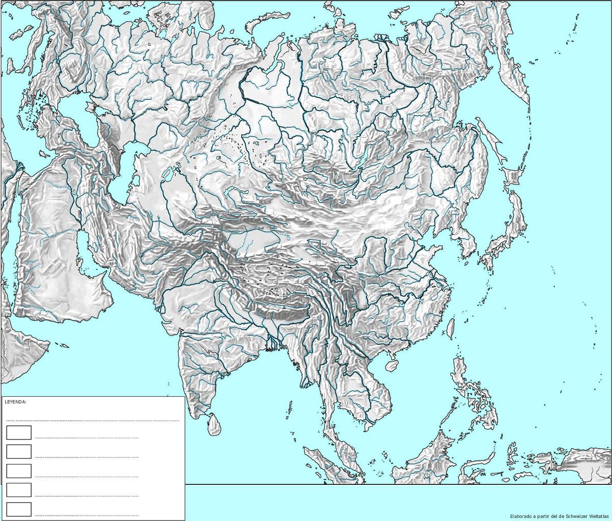 Worksheet. enclasedegeografia Ejercicio mapa fsico de Asia