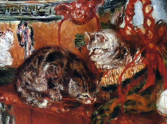 Fleurs et chats by Renoir