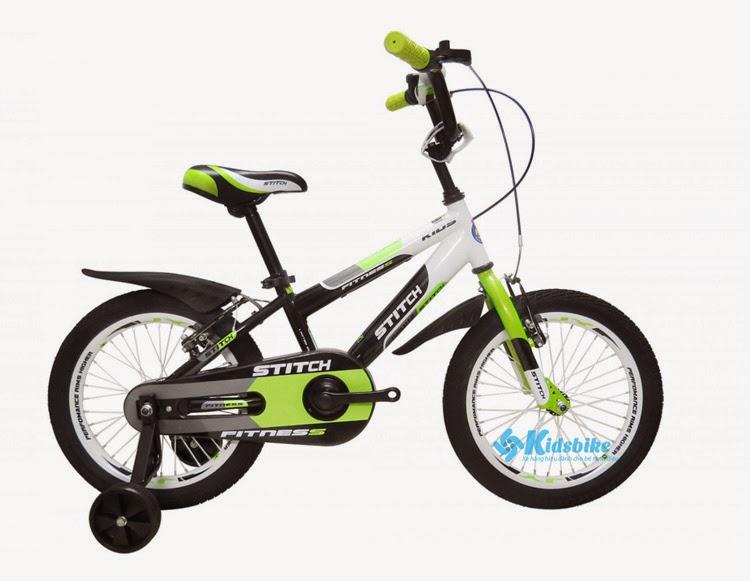 Xe đạp Stitch Fitness xanh pha đen
