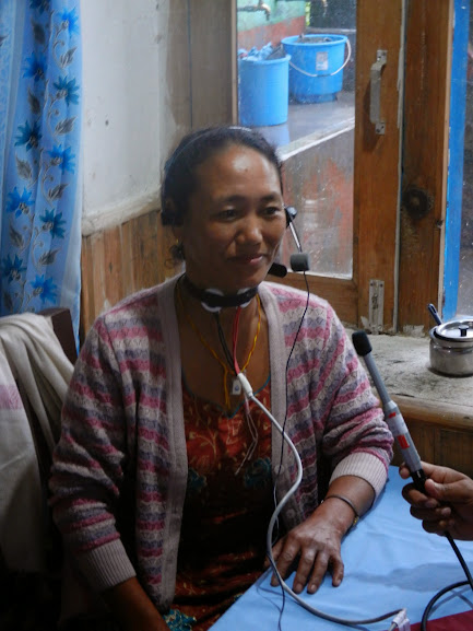 A Gyalsumdo Woman Being Interviewed and Recorded