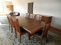 110 x 48 Inch Montreal Table, Lancaster Chairs and Lancaster Sideboard in Antique Cherry