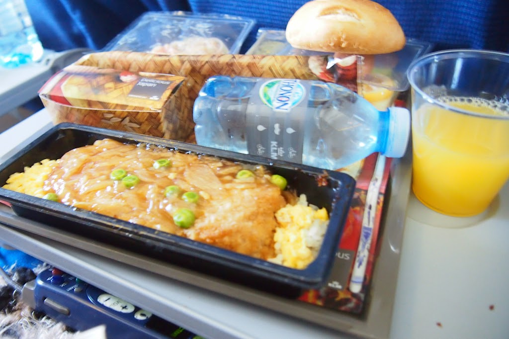 アムステルダム→福岡 KLMオランダ航空の機内食